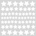 RoomMates Wandsticker Glow in the Dark Stars 60-tlg.