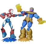 Hasbro Marvel Avengers Bend And Flex Iron Patriot vs. Thanos Doppelpack 15 cm große biegbare Action-