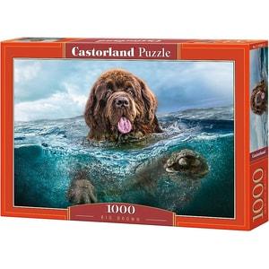 Castorland Puzzle 1000 Teile Großer Brauner Hund im Wasser