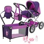 BAYER Puppenwagen Deluxe Set lila