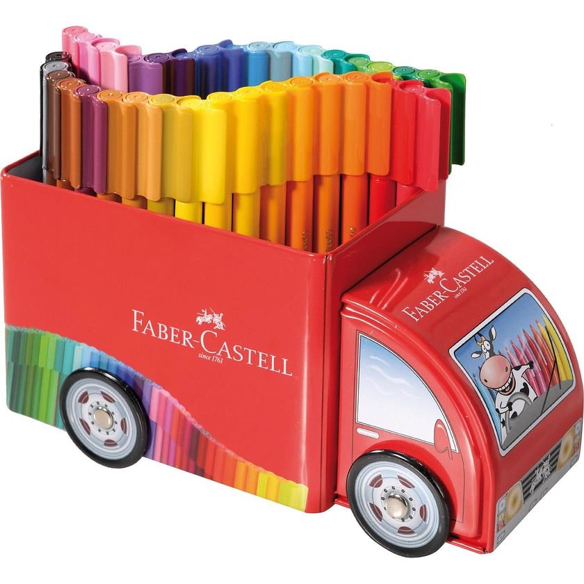 Faber-Castell CONNECTOR Filzstifte Metalltruck 54-tlg.