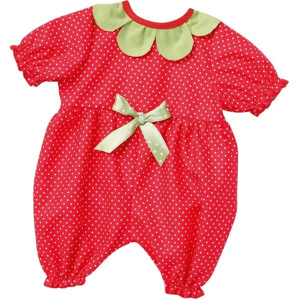Emil Schwenk Puppenkleidung Baby-Anzug Erdbeere Gr. 43