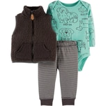Carter`S Baby Set Jerseyweste Langarmshirt Jerseyhose für Jungen
