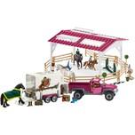 Schleich 42403 Reitschule mit Pick-up und Anhänger