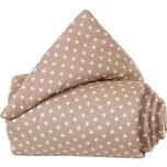 Tobi Gitterschutz Organic Cotton Für Verschlussgitter Alle Babybay Modelle Hellbraun Sterne Weiß