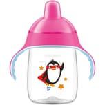 Philips Avent Trinklernflasche SCF75507 340 ml Silikonschnabel pink