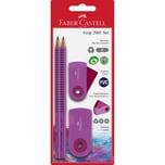 Faber-Castell Bleistiftset Grip 2001 - Sleeve pink BK