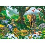 Ravensburger Puzzle 500 Teile 49x36 cm Harmonie im Dschungel