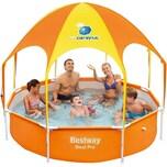 Bestway Frame Pool Splash-in-Shade mit Sonnendach und Sprinkler 244 x 51cm