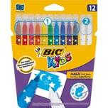 BIC Kids Zauber-Filzstifte 10 Farben
