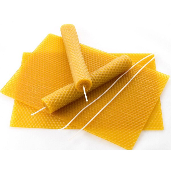 Pebaro Bienenwachsplatten 15 Stück inkl. Docht