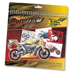 Folia Schablonenbuch Motorrad inkl. Sticker