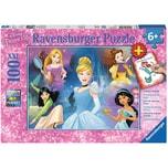 Ravensburger 2-tlg. Puzzle Malbuch Set 100 Teile XXL 49x36 cm Disney Princess
