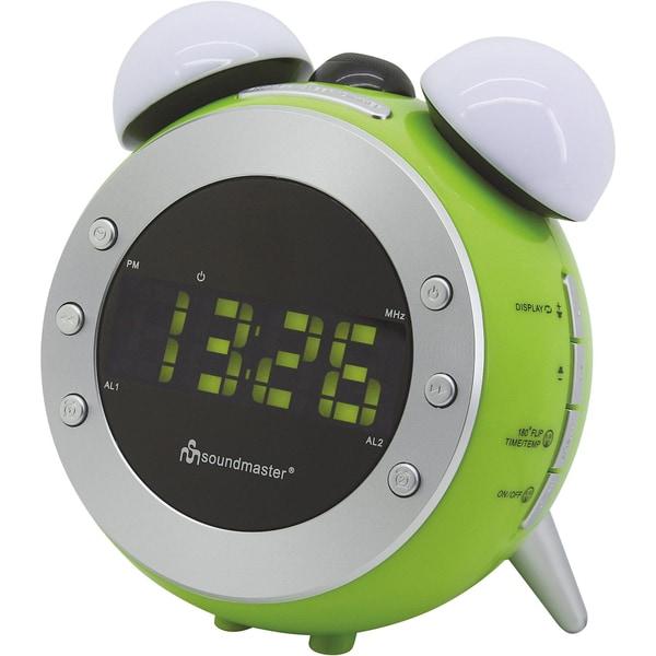 Soundmaster Radiowecker mit Projektion Nachtlicht UR140GR grün