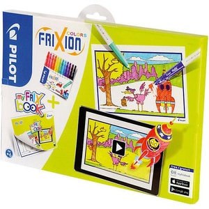 Pilot Frixion Color Fasermaler 12 Farben Malbuch