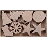 prohobb Paper Art 2D-Figuren Weihnachten 80 Stück 8 verschiedene Designs