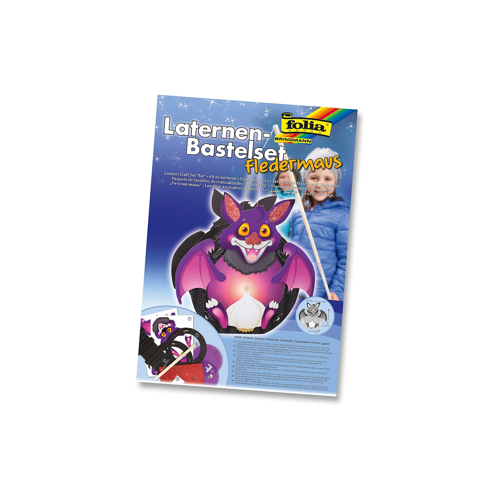 Folia Laternen-Bastelset Fledermaus