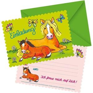 Lutz Mauder Verlag Einladungskarten Mein Ponyhof 8 Stück inkl. Umschläge