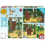 Schmidt Spiele Kinderpuzzleset 3 x 48 Teile Wer hat Angst vorm Grüffelo?