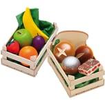 Erzi Spiellebensmittel Set ObstBackwaren aus Holz