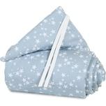Tobi Nestchen pique für babybay original azurblau Sterne weiß 149 x 24 cm