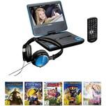 Lenco DVD-Player DVP-710 blau Filmpaket 5 DVDs