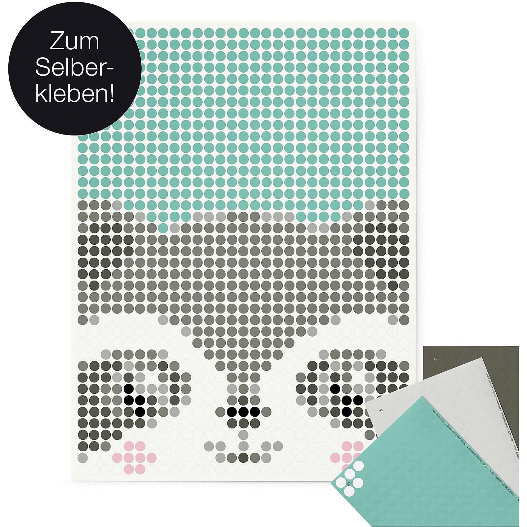 dot on art Kids - waschbär 30 x 40 cm