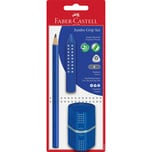 Faber-Castell Bleistiftset JUMBO GRIP blau 3-tlg. inkl. Spitzdose