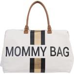 Childhome Wickeltasche Mommy Bag Canvas Streifen goldschwarz