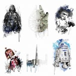 Roommates Wandsticker Star Wars Iconic Watercolor