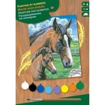 Mammut Spiel Und Geschenk Junior Painting By Numbers - Pferd Mit Fohlen