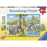 Ravensburger 2er Set Puzzle je 24 Teile 26x18 cm Willkommen im Zoo
