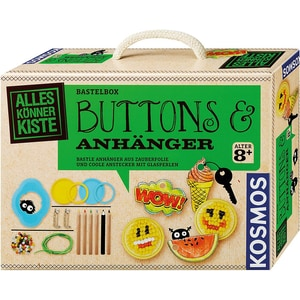 Kosmos Bastelbox Buttons Anhänger