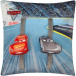 """JOY TOY Cars 3 Plüschkissen """"Racetrack"""" mit 2 beweglichen Plüschautos 40x40 cm"""