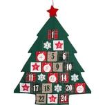 Hotex Adventskalender Baum 72 x 89 cm Säckchen 85 x 8 cm