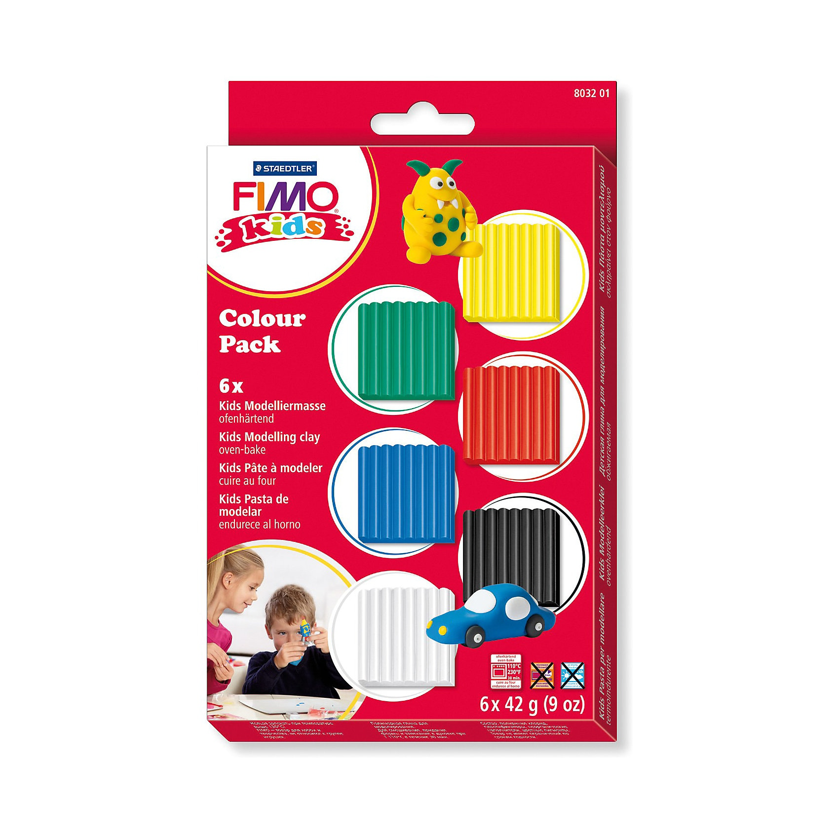 Staedtler Fimo kids Materialpackung basic 6 x 42 g