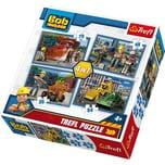 Trefl 4in1 Puzzle 35/48/54/70 Teile Bob der Baumeister