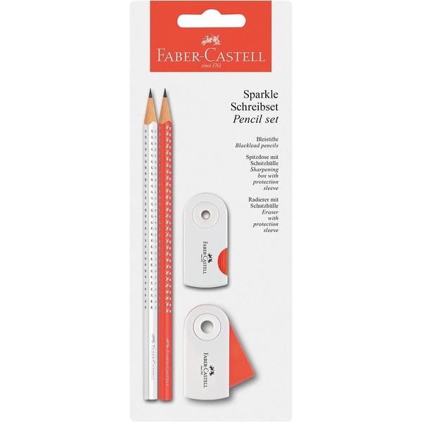 Faber-Castell Bleistifteset Sparkle neonkoralleweiß