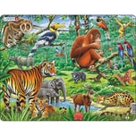 Larsen Rahmen-Puzzle 20 Teile 36x28 cm Dschungel