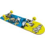 No Rules Skateboard Pro ABEC 1 Drempels blau/gelb
