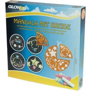 Glow2B Mandala mit Kreide