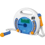 X4 Tech Kinder CD Player Bobby Joey inkl. MP3 und Mikrofone blau