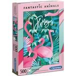 Clementoni Puzzle 500 Teile Fantastic Animals Flamingos