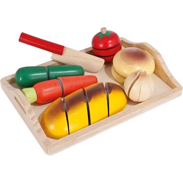 Eichhorn Schneidebrett und Spiellebensmittel