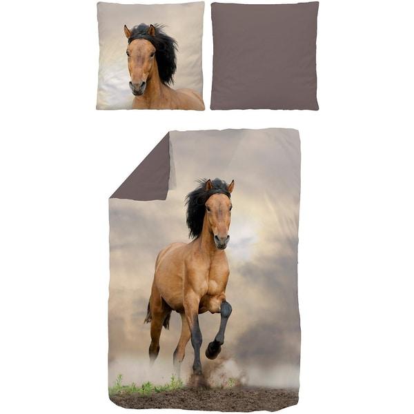 Bettwäsche Pferd Renforcé braun 135 x 200 cm