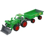 Wader Farmer Technic Traktor Frontschaufel 2-Achsanhänger