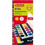 Herlitz Deckfarbkasten 24 Farben inkl. Deckweiß