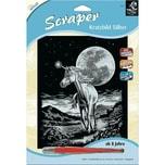 Mammut Spiel und Geschenk Kratzbild Scraper Einhorn silber