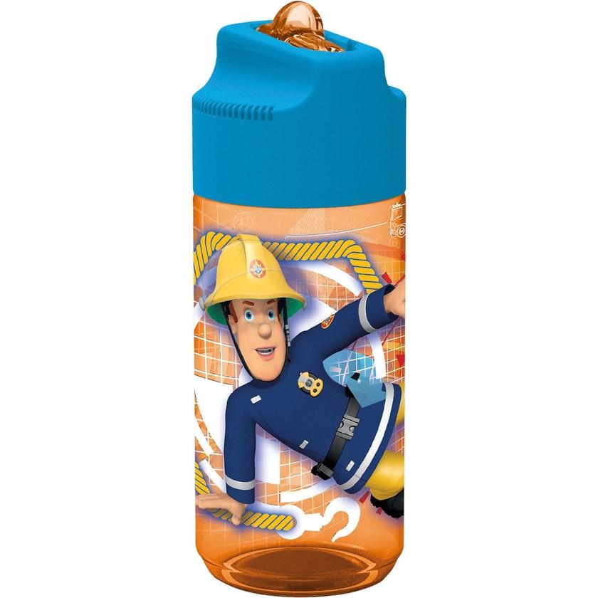 P:OS Tritan Trinkflasche inkl. Strohhalm Feuerwehrmann Sam 450ml