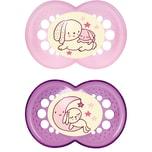 Mam Schnuller Night Latex Gr. 3 rosa 2er Pack